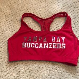 Pink NFL Sports Bra Lace Tampa Bay Buccaneers.